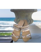 Handmade custom  Leather Sandals for Women made in Greece with passion